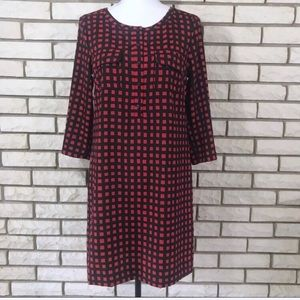 Gap Dress Red Black Plaid Check XS